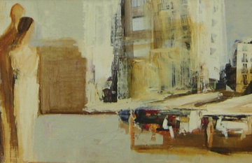 White City 23x48 Original Painting - Adriana Naveh