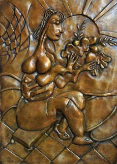 Let There Be Peace Bronze Bas Relief Sculpture 2008 Sculpture - Alexandra Nechita