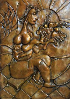 Let There Be Peace Bas Relief Bronze Sculpture 2008 Sculpture - Alexandra Nechita