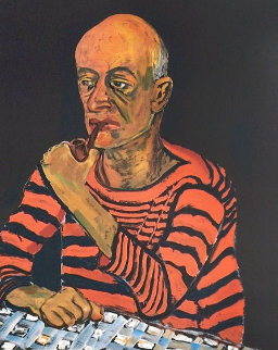 Portrait of John Rothschild PP 1980 Limited Edition Print - Alice Neel