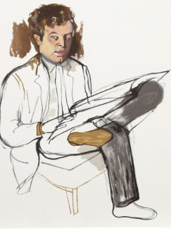 Portrait of Edward Avedesian Limited Edition Print - Alice Neel