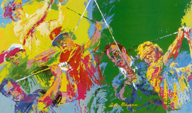 golf winners by leroy neiman. Black Bedroom Furniture Sets. Home Design Ideas