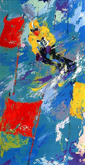 Winter Olympics Skiing Lake Placid 1980 Limited Edition Print - LeRoy Neiman