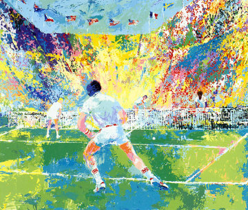 Stadium Tennis 1981 Limited Edition Print - LeRoy Neiman