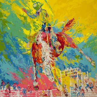 Bucking Bronc 1977 Limited Edition Print - LeRoy Neiman
