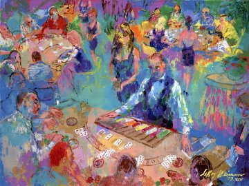 High Stakes Blackjack - Vegas 2008 Limited Edition Print - LeRoy Neiman