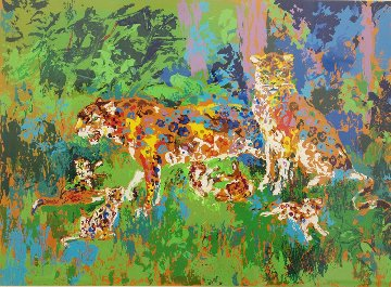 Jaguar Family 1980 Limited Edition Print - LeRoy Neiman