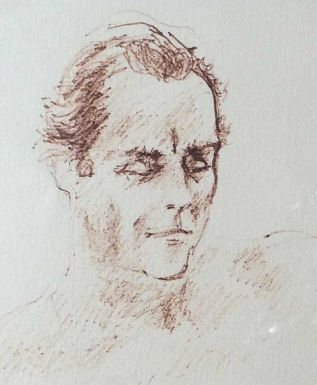 Untitled Drawing (Portrait of Jerome Zeitman) 1979 11x14