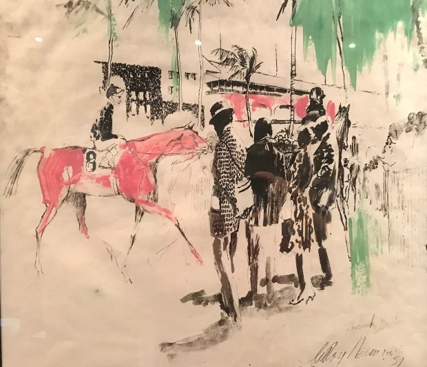 Hialeah Racetrack in Florida Embellished 1959 29x27