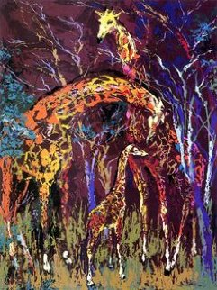 Giraffe Family  Limited Edition Print - LeRoy Neiman