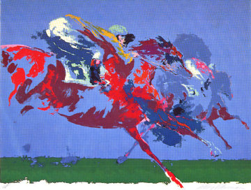 In The Stretch 1972 Limited Edition Print - LeRoy Neiman