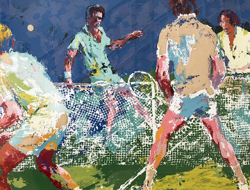 Men's Doubles AP 1974 Limited Edition Print - LeRoy Neiman