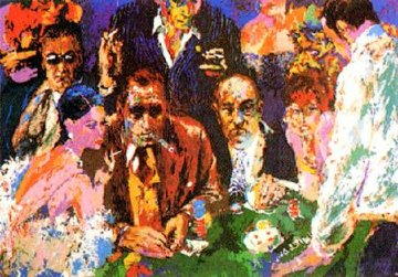 Vegas Blackjack 1977 Limited Edition Print - LeRoy Neiman
