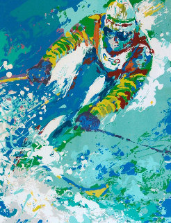 Olympic Skier 1980 Limited Edition Print - LeRoy Neiman