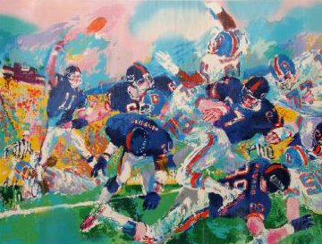 Giants - Bronco Classic 1987 Limited Edition Print - LeRoy Neiman