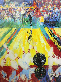 Million Dollar Strike HS by 2 Pro Bowlers 1982 Limited Edition Print - LeRoy Neiman