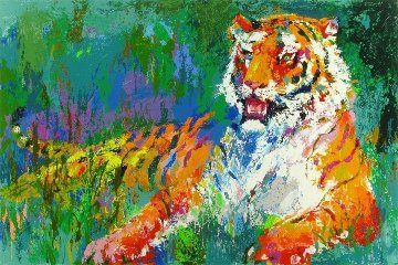Resting Tiger 2008 Limited Edition Print - LeRoy Neiman