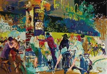 Left Bank Cafe 1989 Limited Edition Print - LeRoy Neiman