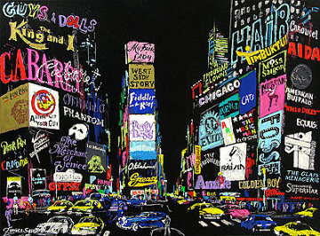 Lights on Broadway 2001 Limited Edition Print - LeRoy Neiman