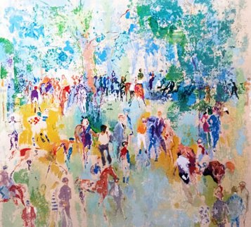 Paddock AP 1972 Limited Edition Print - LeRoy Neiman