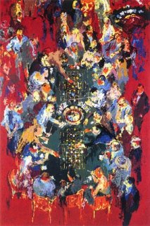 Gaming Table 1990 Limited Edition Print - LeRoy Neiman