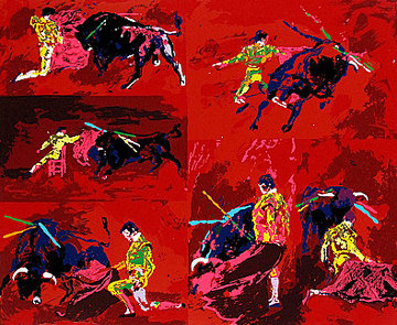 Red Corrida AP 1974 Limited Edition Print - LeRoy Neiman