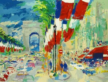 Paris  Suite of 3 Serigraphs 1994 Limited Edition Print - LeRoy Neiman