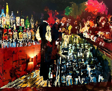 Chicago Key Club Bar 1989 Limited Edition Print - LeRoy Neiman