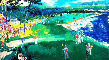 18th At Pebble AP Limited Edition Print - LeRoy Neiman