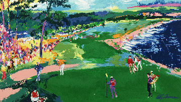18th At Pebble Beach HS Poster Limited Edition Print - LeRoy Neiman