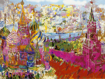 Red Square Panorama (Russia) 1977 Limited Edition Print - LeRoy Neiman