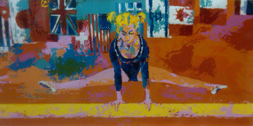 Olympic Gymnast 1976 Limited Edition Print - LeRoy Neiman