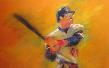Reggie Jackson Pastel 1983 28x34 Works on Paper (not prints) - LeRoy Neiman