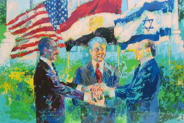 Egyptian Israeli Peace Treaty 1979 Limited Edition Print - LeRoy Neiman