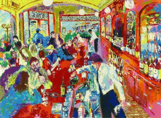 Buena Vista Bar San Francisco 1987 By Leroy Neiman