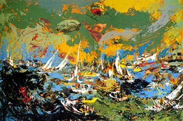 Spectators Fleet, America's Cup PP 1978 Limited Edition Print - LeRoy Neiman