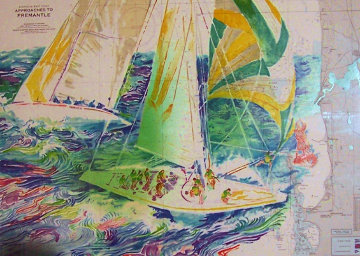 America's Cup, Australia 1986 Limited Edition Print - LeRoy Neiman