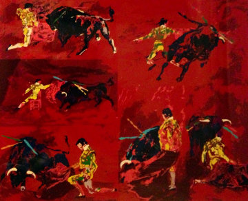 Red Corrida 1974 Limited Edition Print - LeRoy Neiman