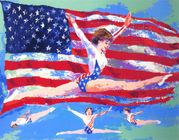 Golden Girl 1985 Limited Edition Print - LeRoy Neiman