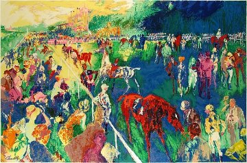 Paddock At Chantilly 1992 Limited Edition Print - LeRoy Neiman