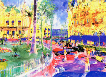 Place du Casino Monte Carlo 1982 Limited Edition Print - LeRoy Neiman