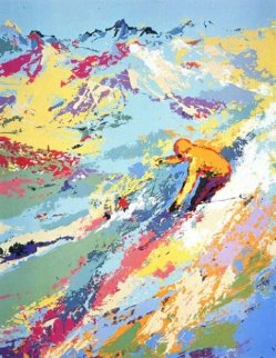 Alpine Skiing Limited Edition Print - LeRoy Neiman