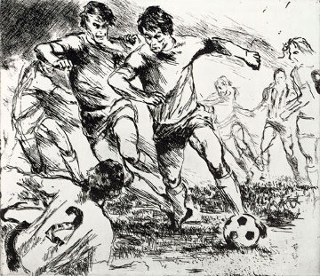 Eaux Fortes etching suite: Soccer Players 1980 Limited Edition Print - LeRoy Neiman
