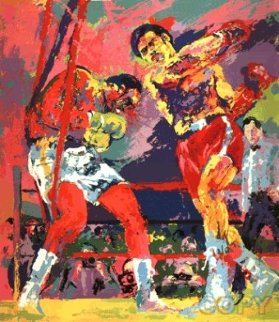 Frazier - Foreman in Jamaica 1974 Limited Edition Print - LeRoy Neiman