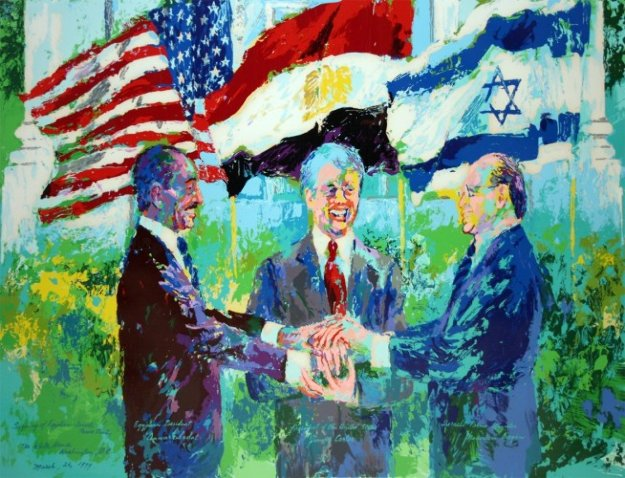 White House Signing of the Egyptian Israeli Peace Treaty 1980 HS by Carter