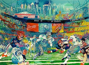 Superbowl XXVIII, Georgia Dome 1994 Limited Edition Print - LeRoy Neiman
