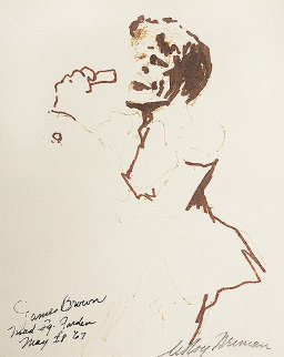 James Brown Drawing 1967 Drawing by LeRoy Neiman