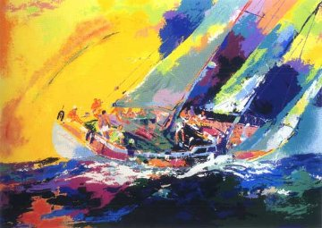 Hawaiian Sailing 1983 Limited Edition Print - LeRoy Neiman