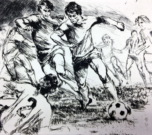 Soccer Etching 1980