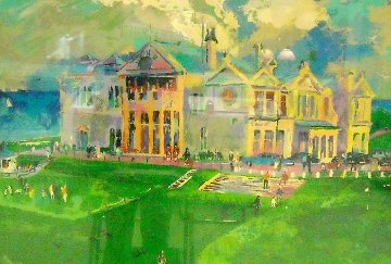 Clubhouse At Old St. Andrews 1987 Limited Edition Print - LeRoy Neiman